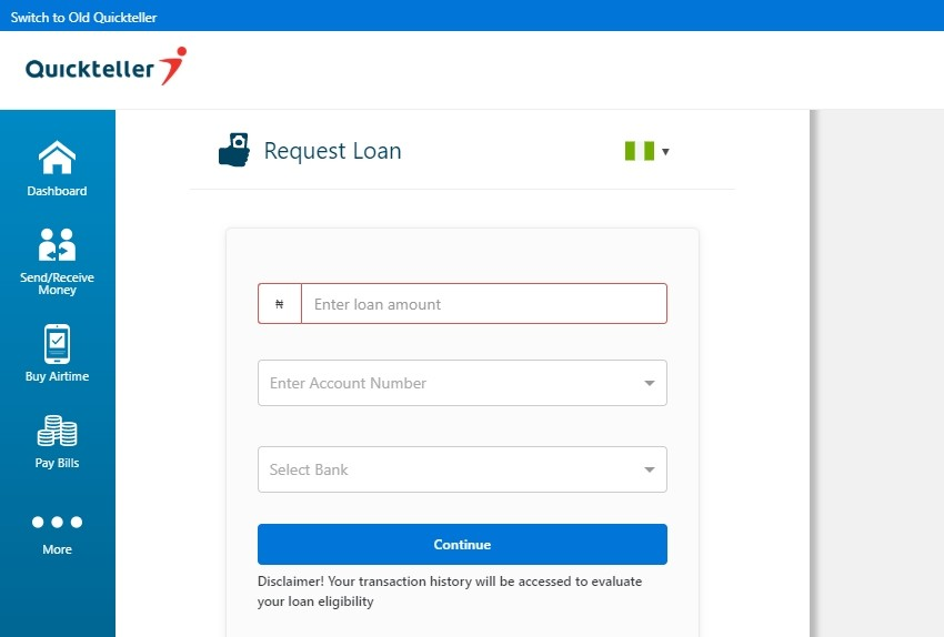 Quickteller Loan